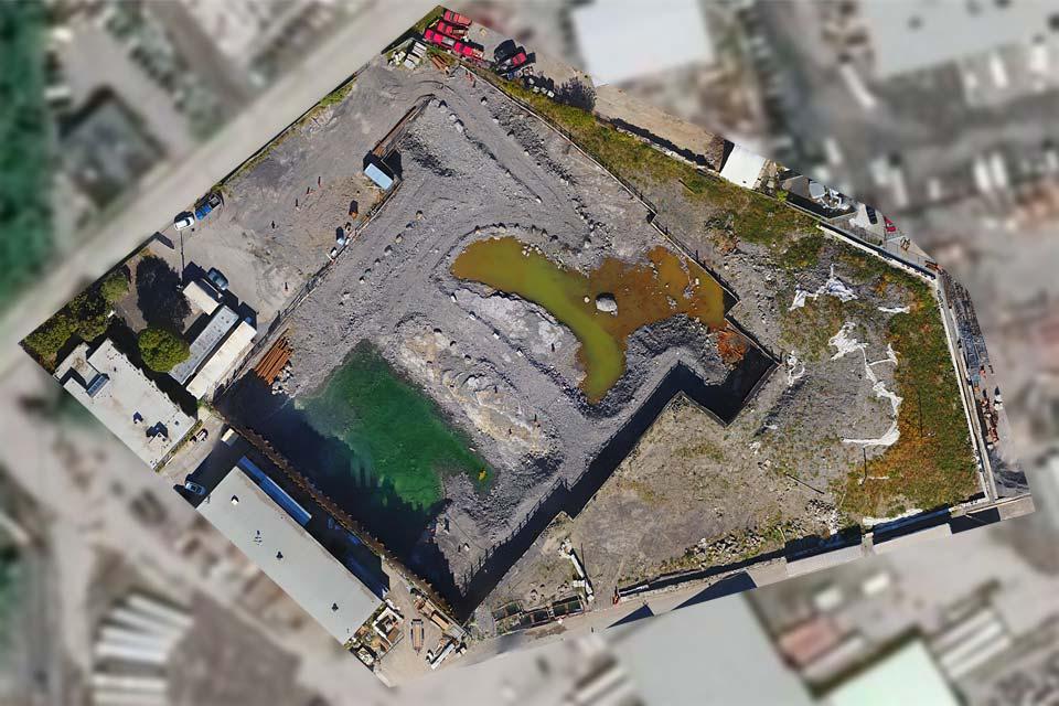 Cartographie de chantier par drone
