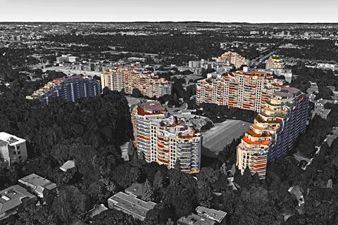 Service d'inspection de façades par drone