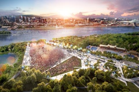 Modélisation du projet de réfection de l'aménagement du Parc Jean-Drapeau