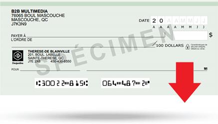 Télécharger un spécimen de chèque