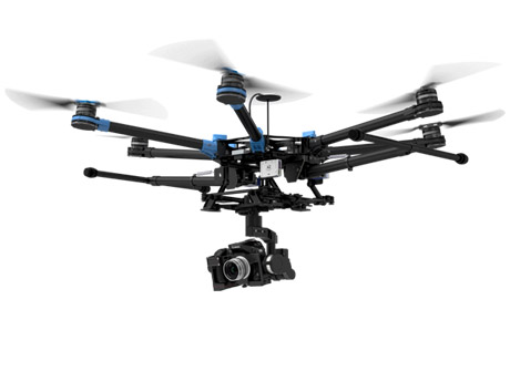 DJI S900 - Professional hexacopter drone in flight